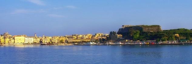 Wyspa Korfu w dzień
